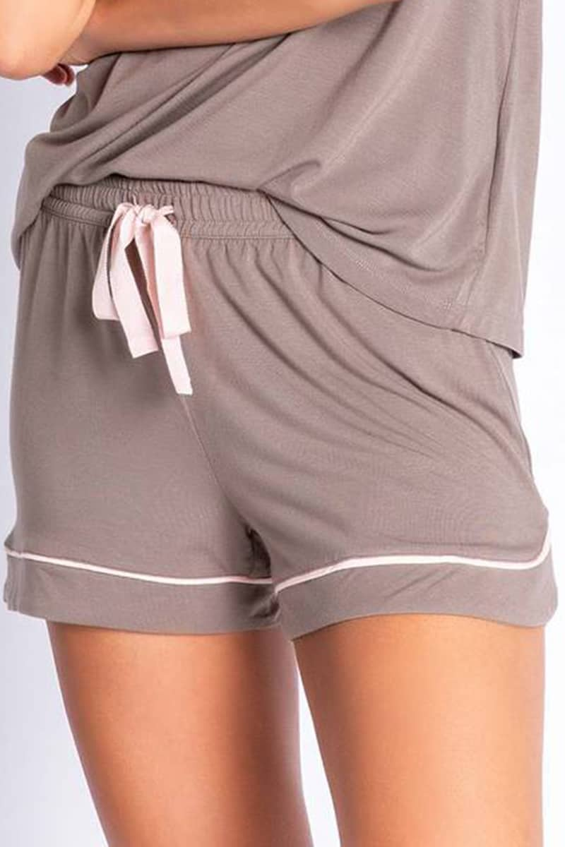 Pj Salvage Modal Basic Shorts In Cocoa 71096