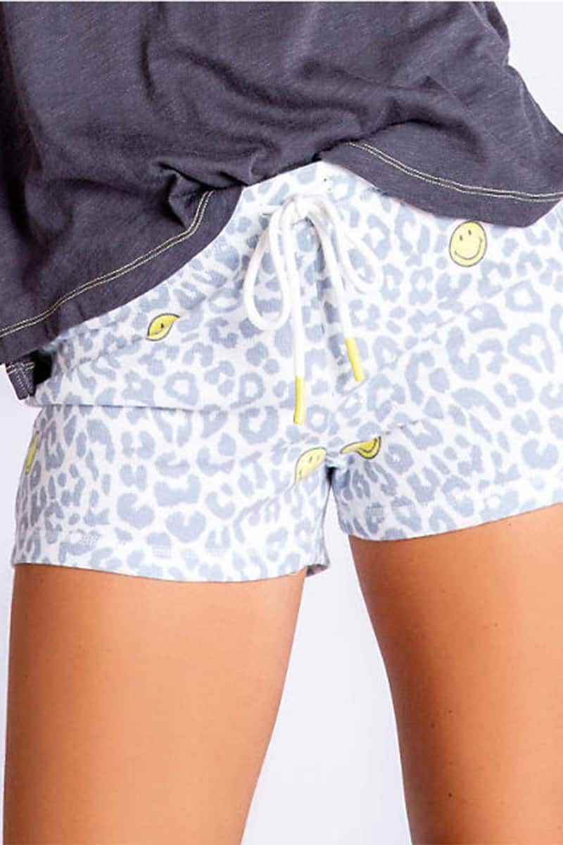 Pj Salvage Smiley Short In Leopard Print 70093