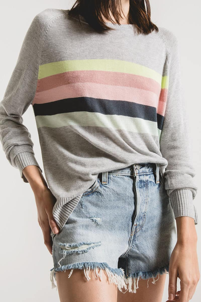 Rag Poet Salerno Sweater In Heather Grey 53310