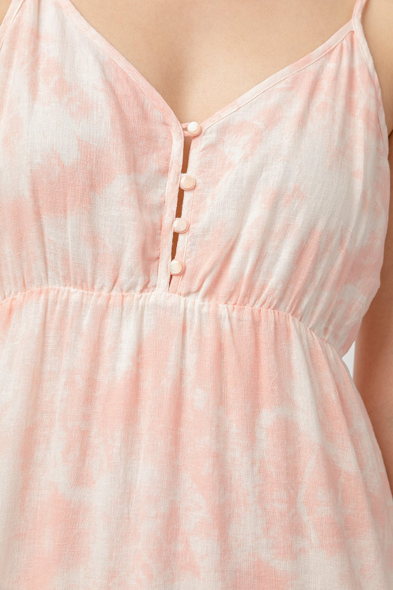 rails delilah peach pink tie dye dress 84257