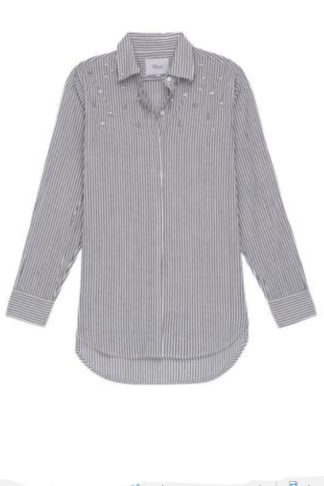 Rails Florence Stripe Taylor Blouse With Pearls 61408