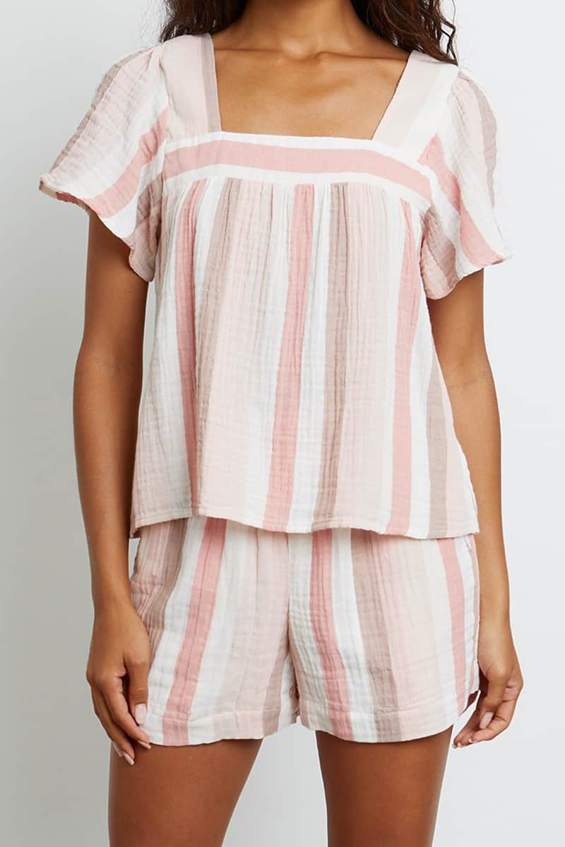 rails savon cheyanne stripe top 84256
