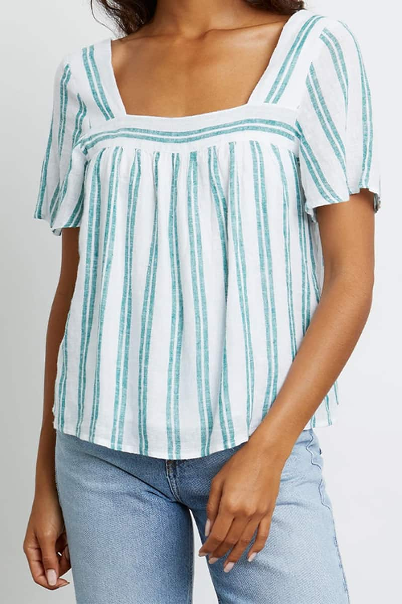 rails savon ivy stripe top 83023