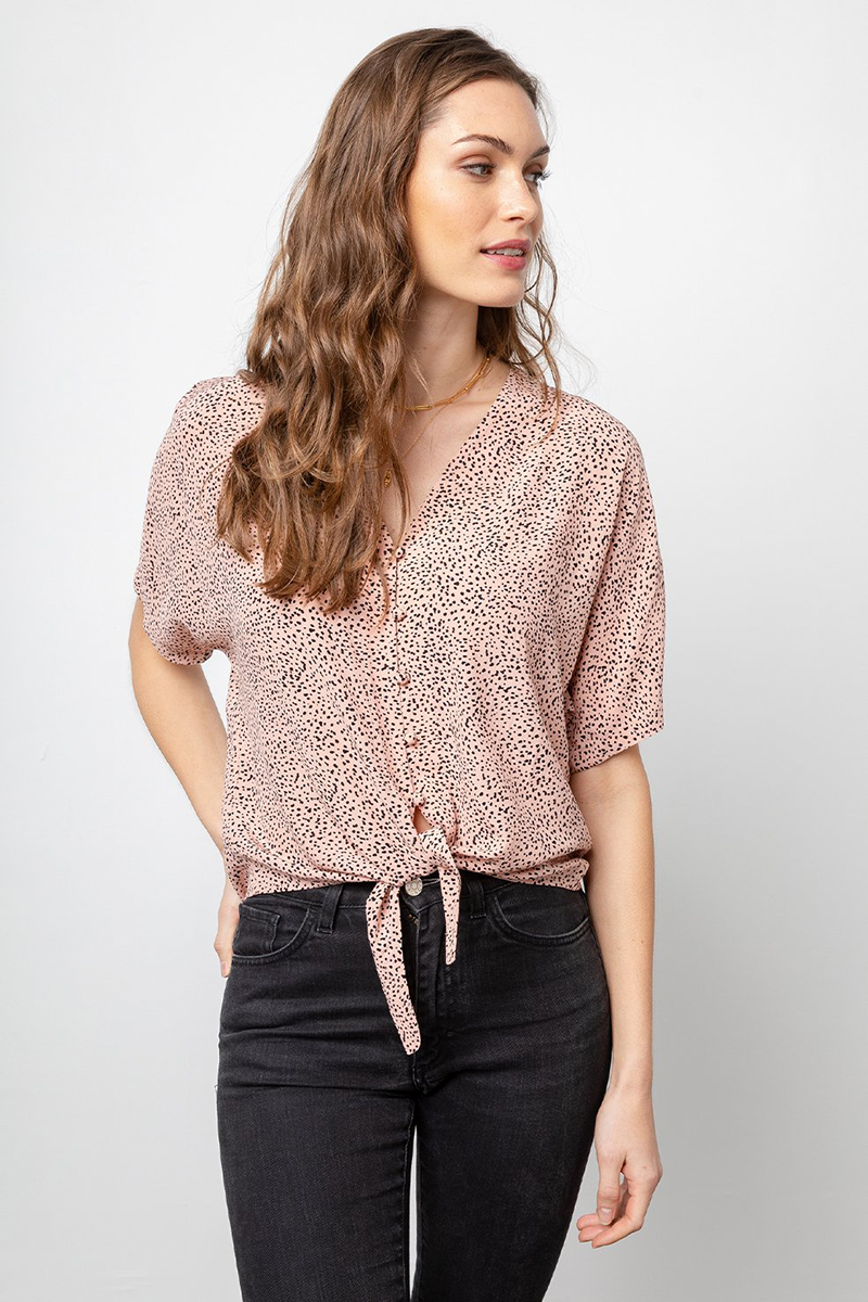 Rails Thea Rose Spotted Top 64816