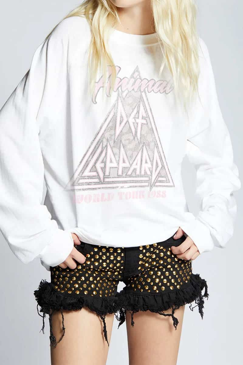 Recycled Def Leppard Animal In White 80202