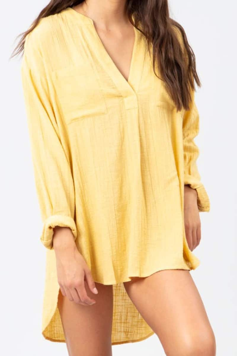 rip curl classic surf shirt in gold 86808