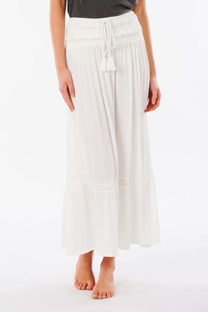 rip curl layla maxi skirt in white 83213