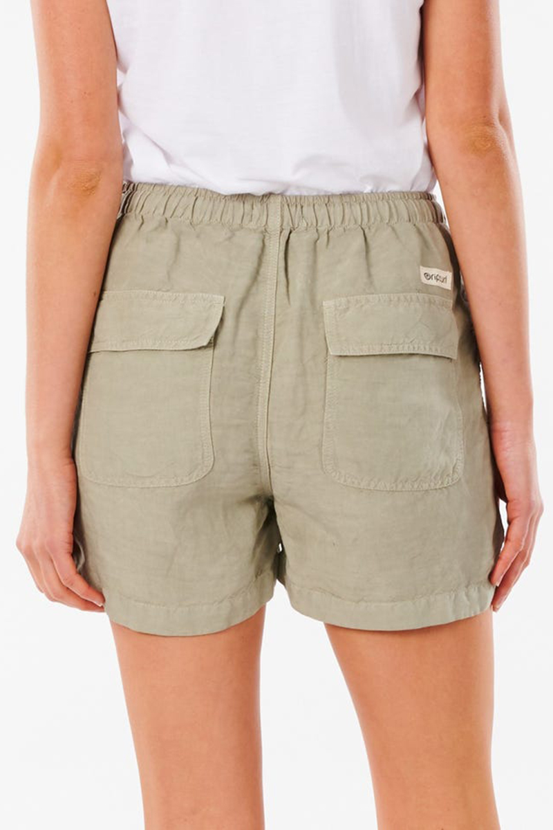 rip curl panoma short in stone green 86807