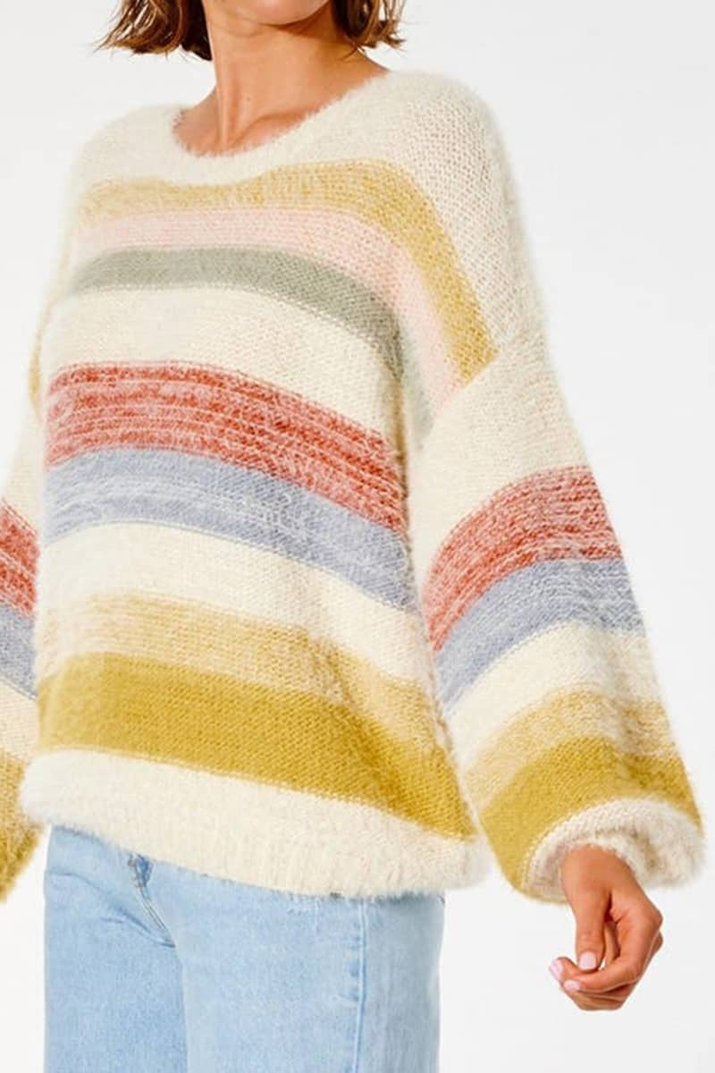rip curl sunset waves sweater in multi combo 92446