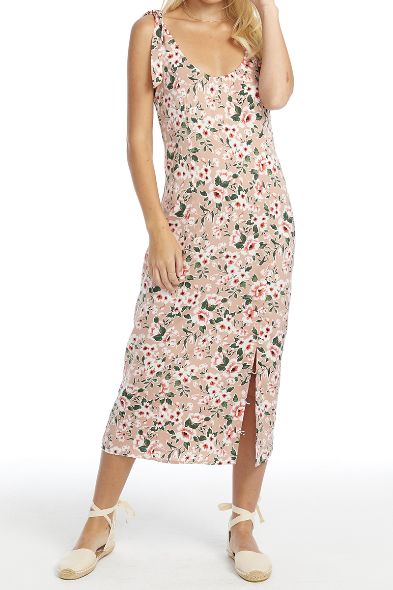 Saltwater Luxe Midi Tank Dress In Blossom Floral 69541