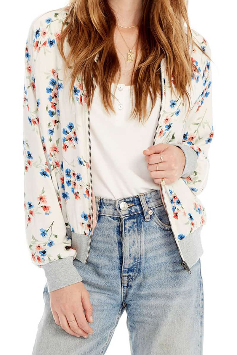 Saltwater Luxe Mixed Print Seville Bomber Jacket 60592