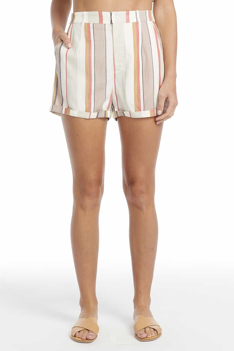 Saltwater Luxe Pull On Short In Beach Stripe 69540