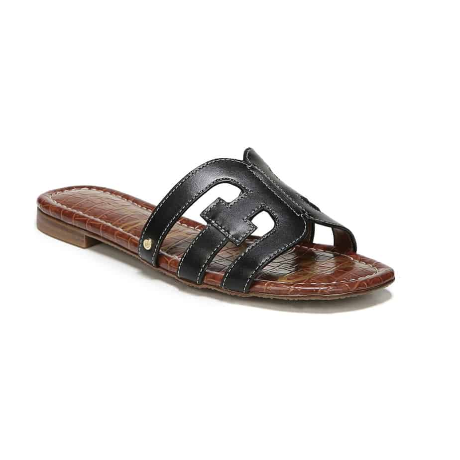03a48bff978d Sam Edelman Bay Cut-out Slide in Black Leather • Cotton Island ...