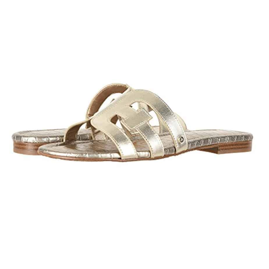 038be2ddf Sam Edelman Bay Sandal in Light Gold • Cotton Island Women s ...