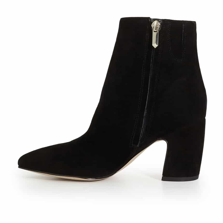 6bc9b880c Sam Edelman Hilty Ankle Bootie in Black Suede • Cotton Island ...