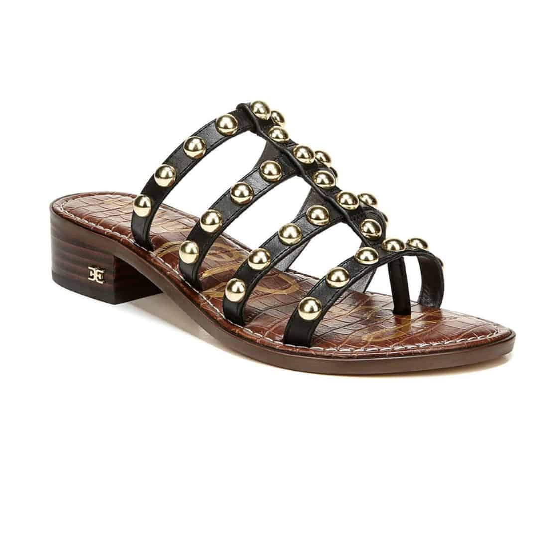 Sam Edelman Juniper Stud Sandal In Black 62223