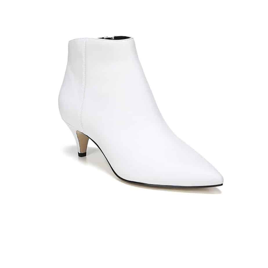 bd17689fd53a84 Sam Edelman Kinzey Kitten Heel Bootie in White • Cotton Island ...