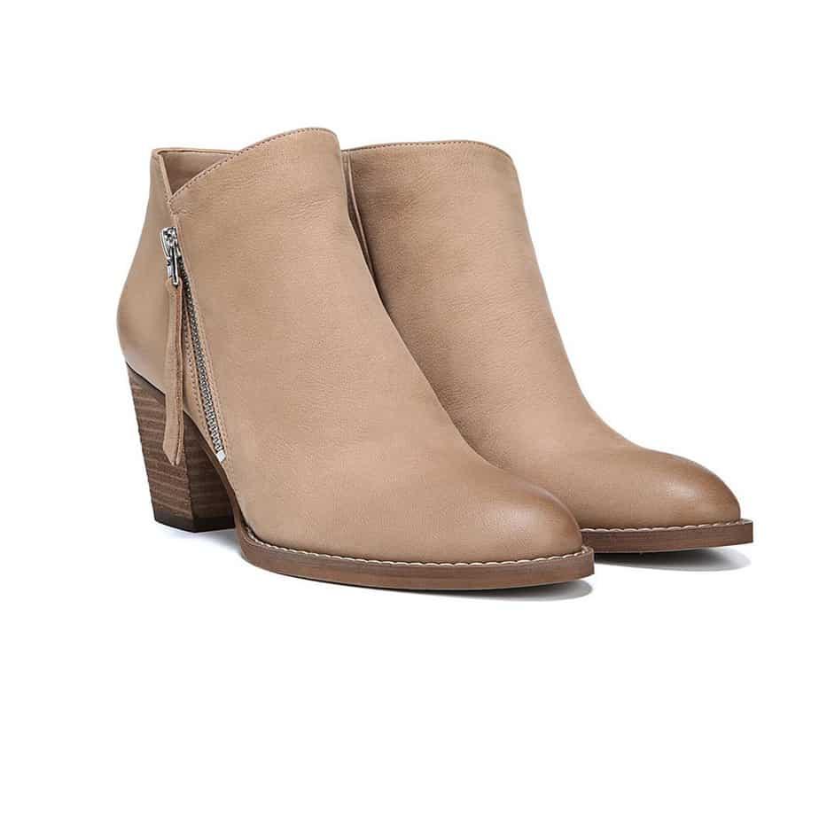 8bfce4ab1f240b Sam Edelman Macon Block Heel Bootie in Camel Leather • Cotton Island ...