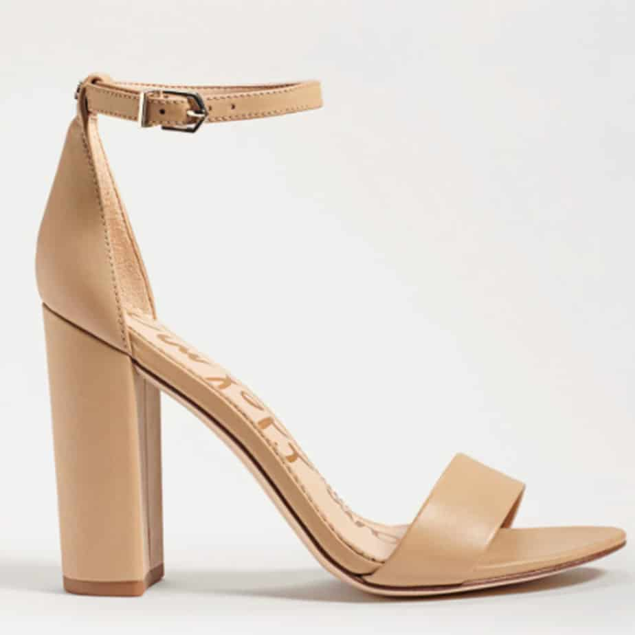 sam edelman yaro nude soft beige leather 83557
