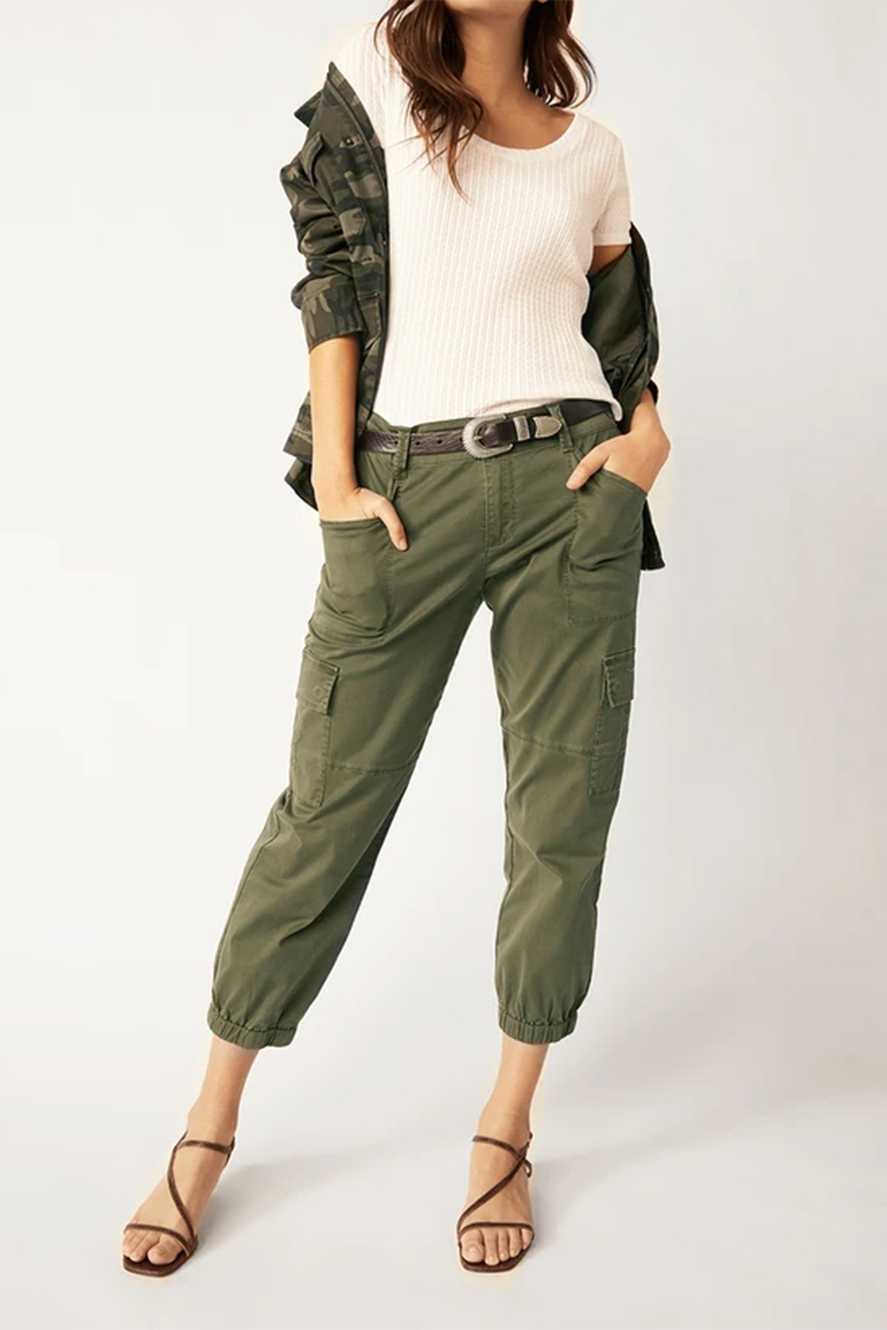 Sanctuary Pant In Aged Green 61613