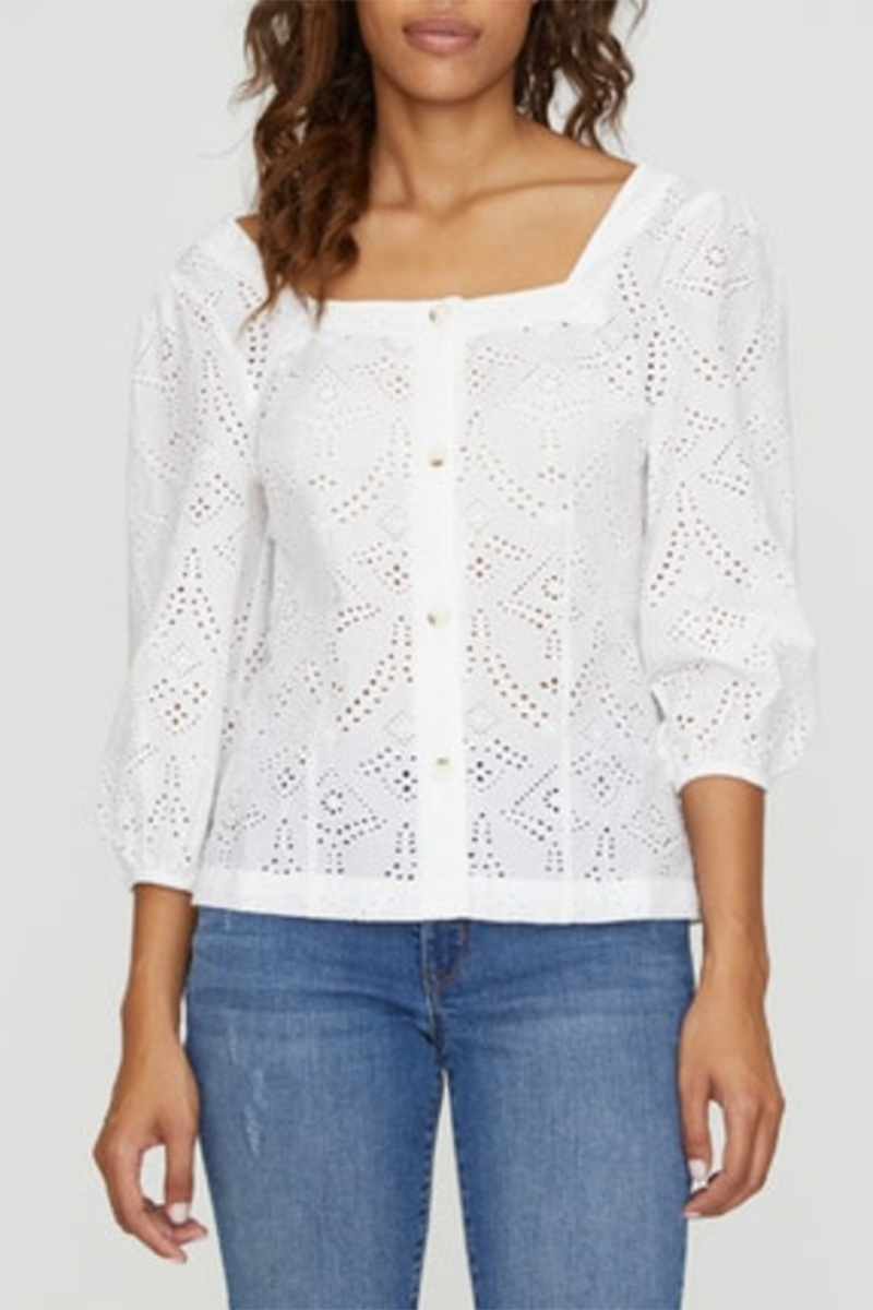 Sanctuary Voyage Eyelet Top In White 62474