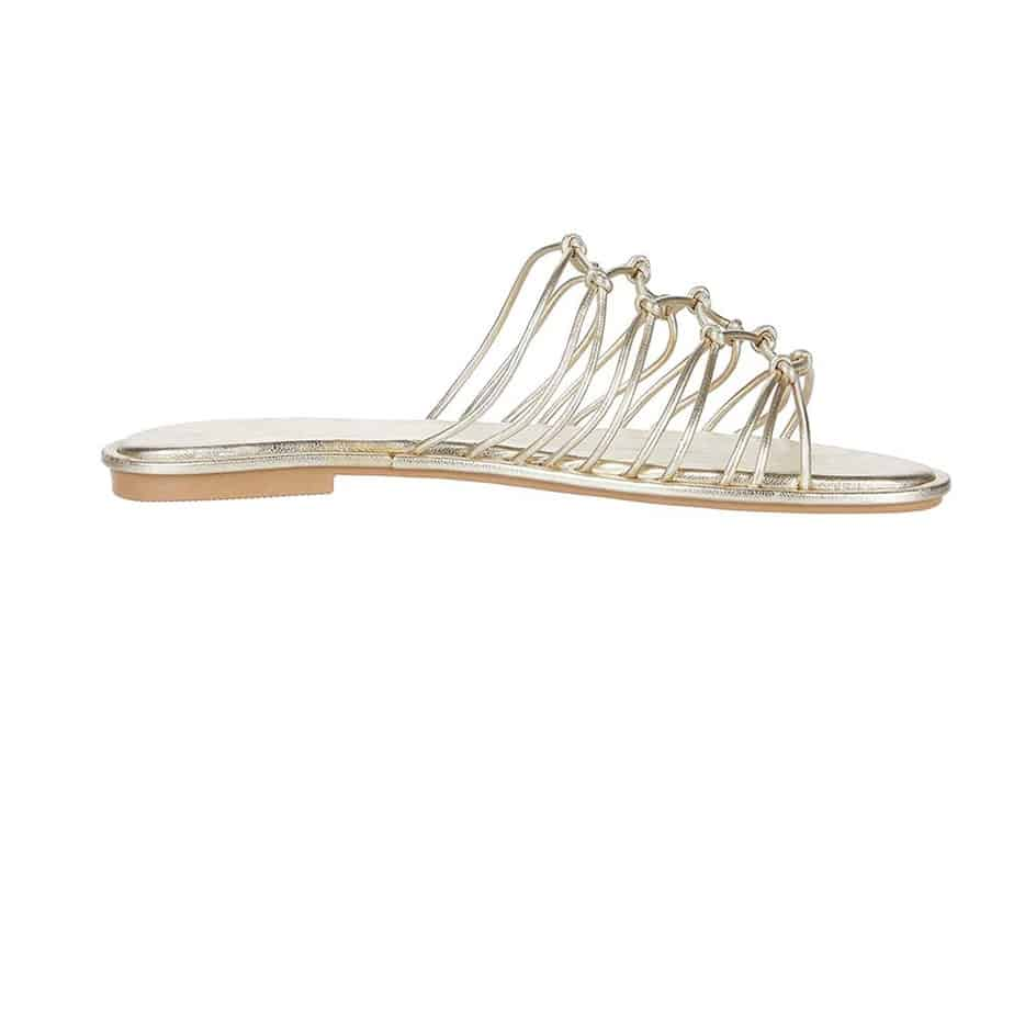 seychelles authentic multi strap sandal in gold 82917