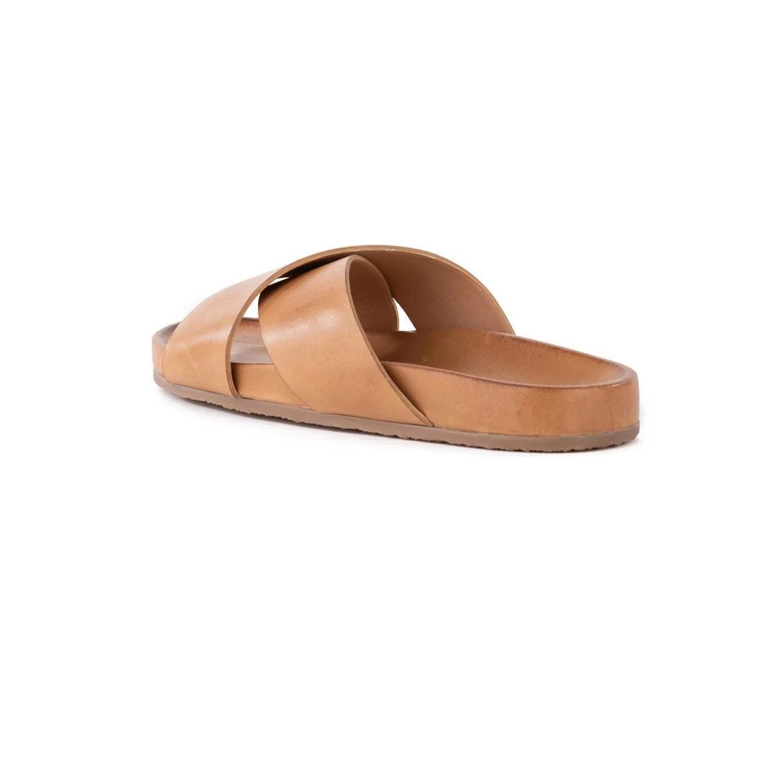seychelles lighthearted slide in tan leather 84717