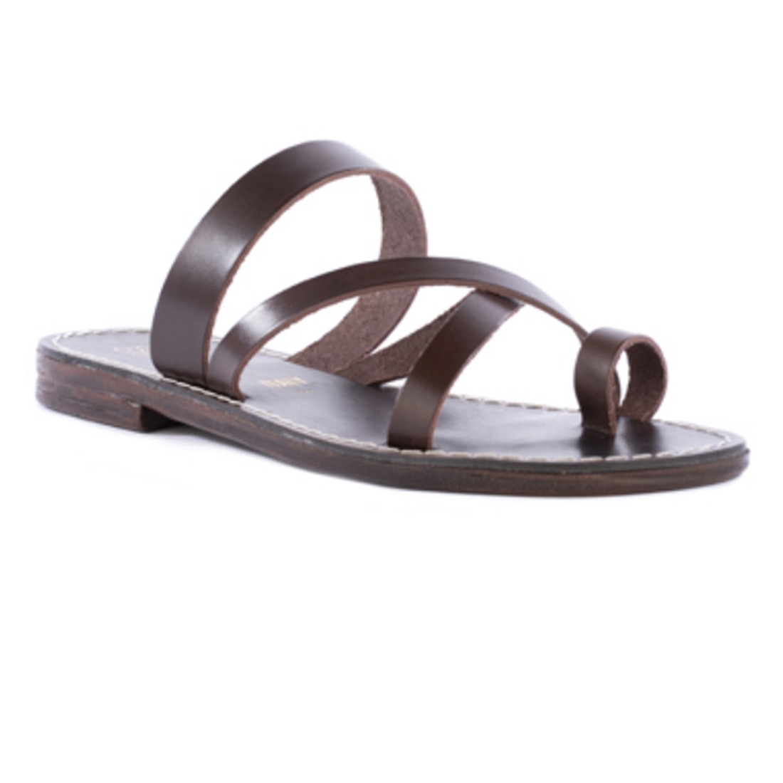 Seychelles So Precious Brown Leather Strappy Toe Sandal 63914