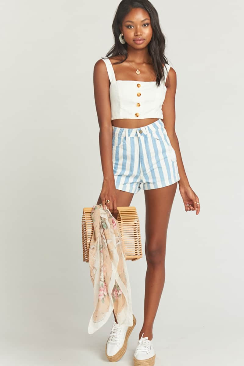 Show Me Your Mumu Raleigh Roll Up In Marina Stripe 60724