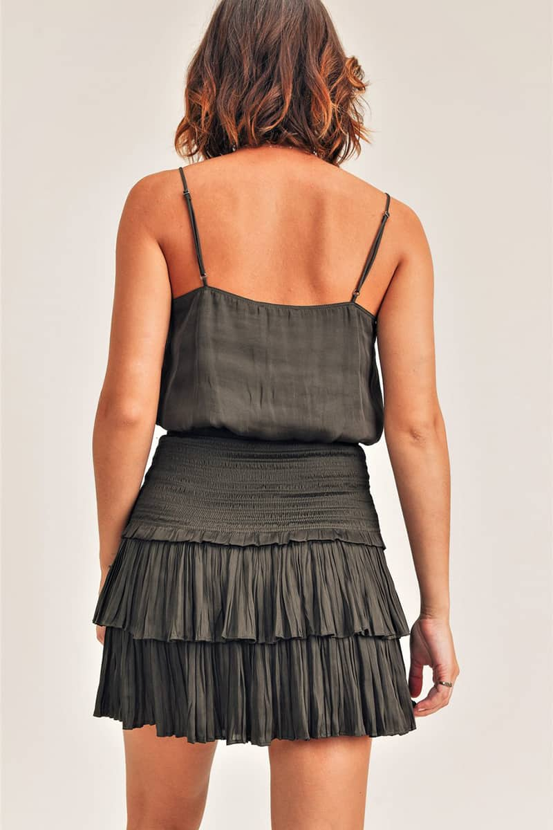 silky crop cami in olive 94740