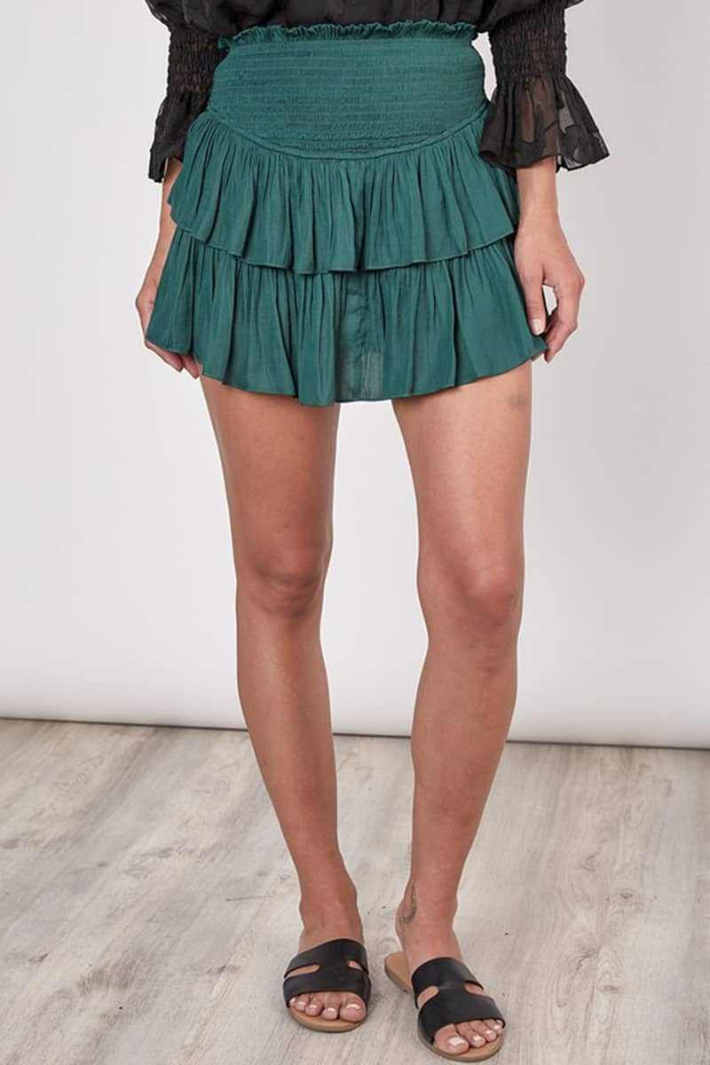 Smock Teired Mini In Forest 80652
