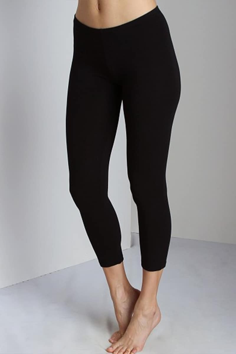 Splendid Crop Legging In Black 67425