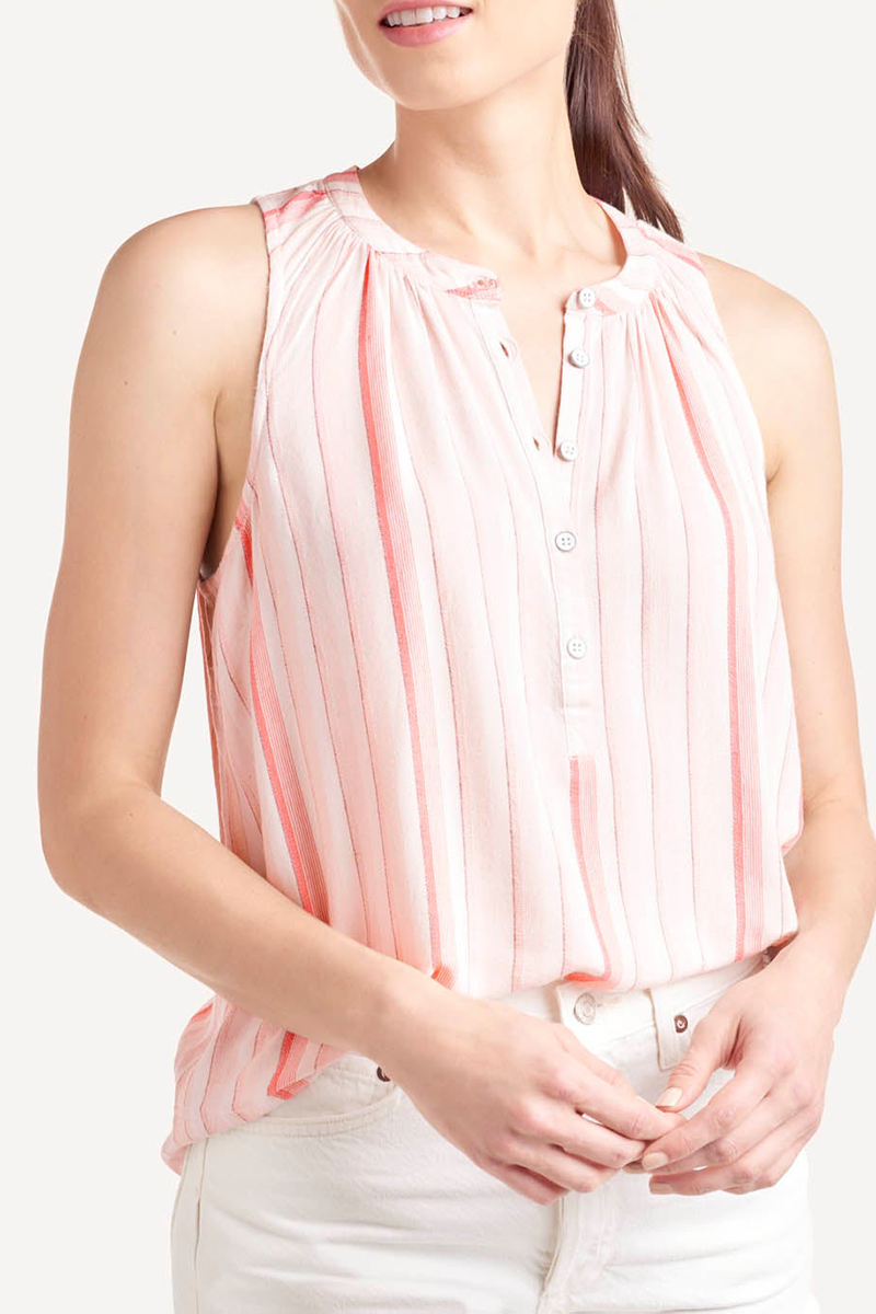 Splendid Swing Tank In Coral Stripes 68854