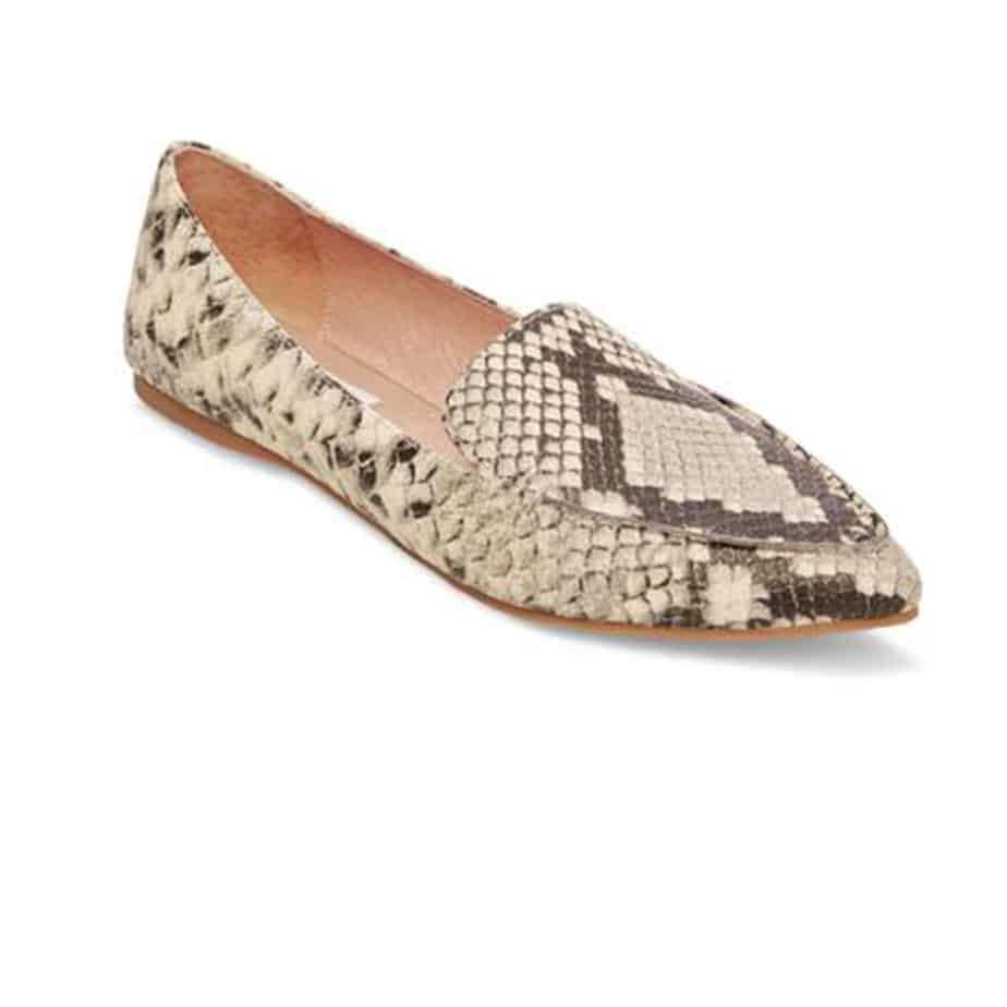 7c20fae1e9d Steve Madden Feather Loafer in Snake • Cotton Island Women s ...