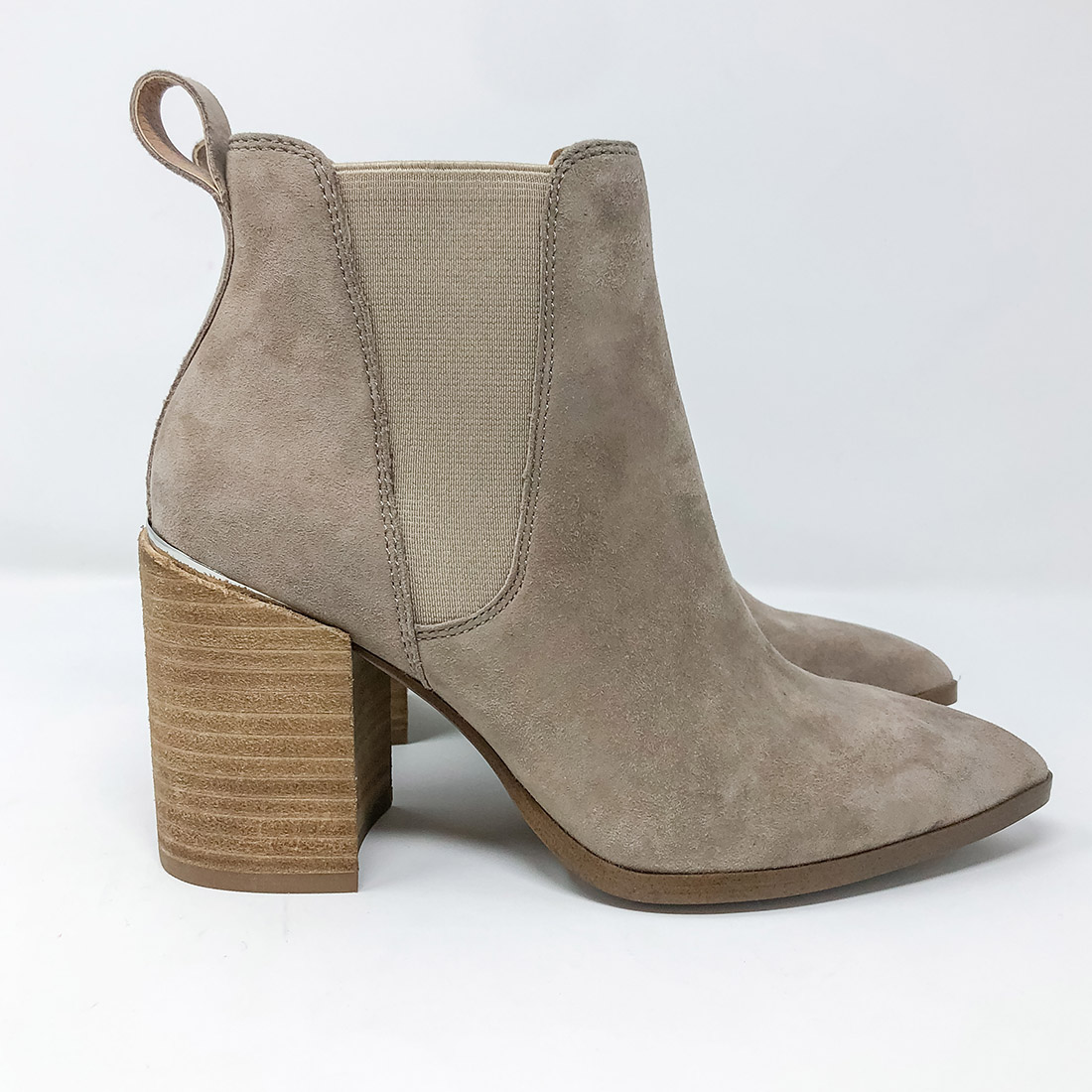 Steve Madden Knoxi Taupe Suede Bootie 73285
