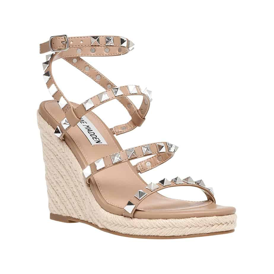 steve madden maici wedge sandal in tan 81872
