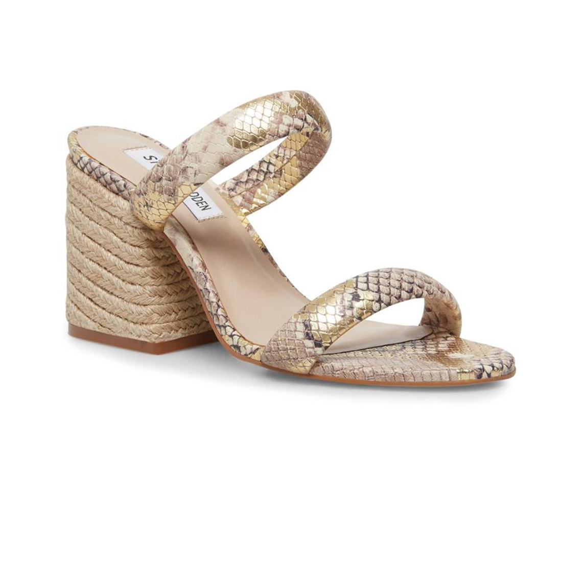 Steve Madden Marcella In Gold Snake 64583