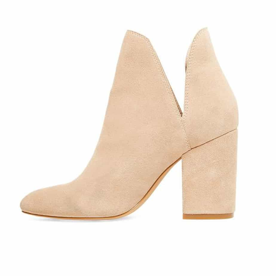 Steve Madden Rookie Bootie In Taupe Suede 53254