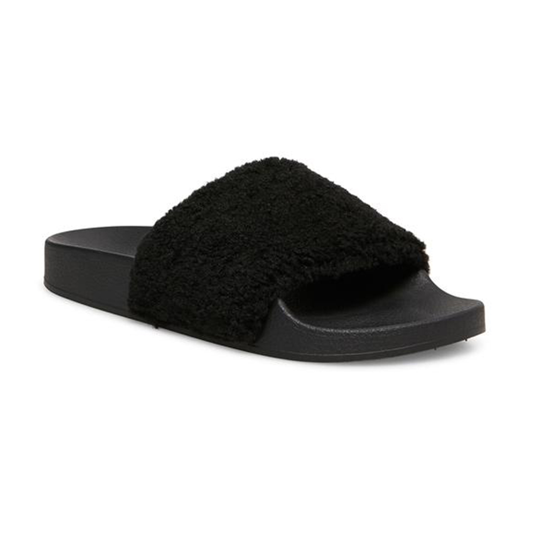 Steve Madden Shear Slipper In Black 75255