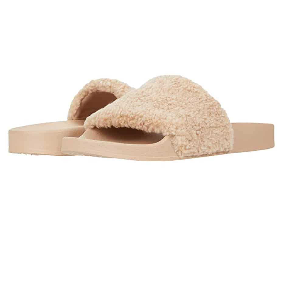 Steve Madden Shear Slipper In Natural 79432