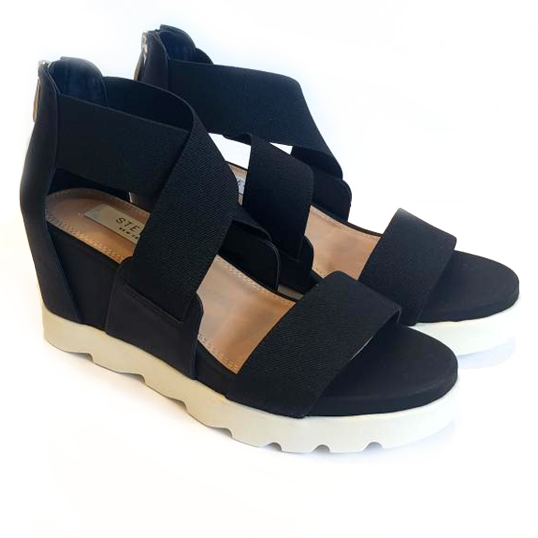 Steven By Steve Madden Sheli Wedge In Black Multi 62014