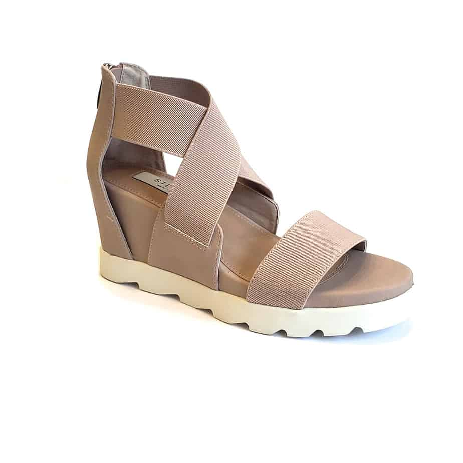 Steven By Steve Madden Sheli Wedge In Blush Multi 62015