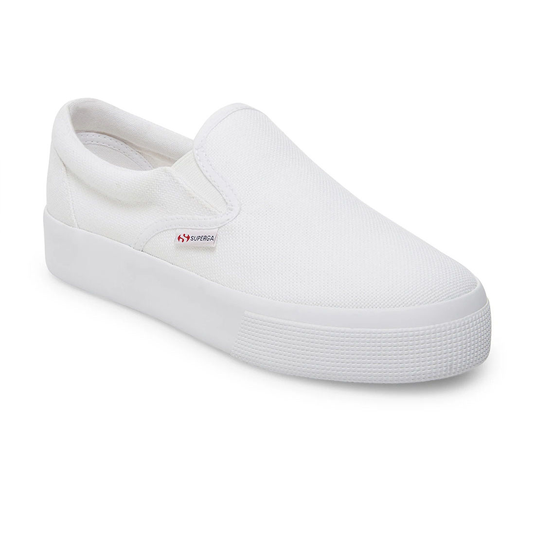 superga 2306 cotu slip on canvas in white 84559