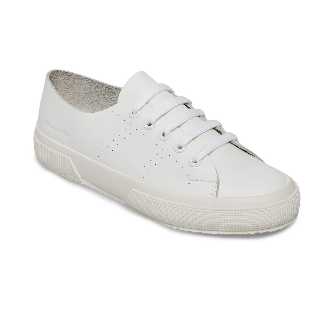 superga 2750 raw cut white leather sneaker 84017