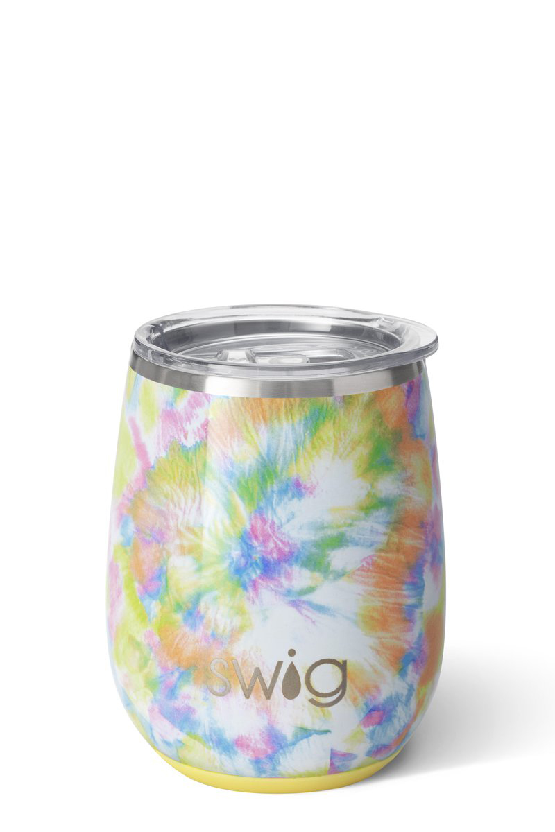 swig life 14oz you glow girl stemless cup 85049