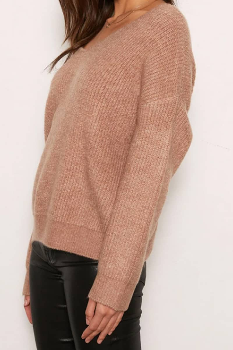 tart collection leigh sweater in pale camel 96571