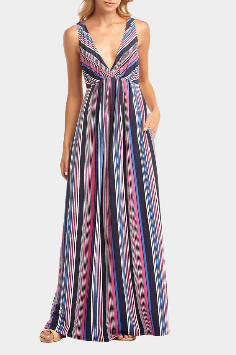 2c707db7a3b Tart Collections Aegea Maxi Dress In Painted Stripe Cotton Island