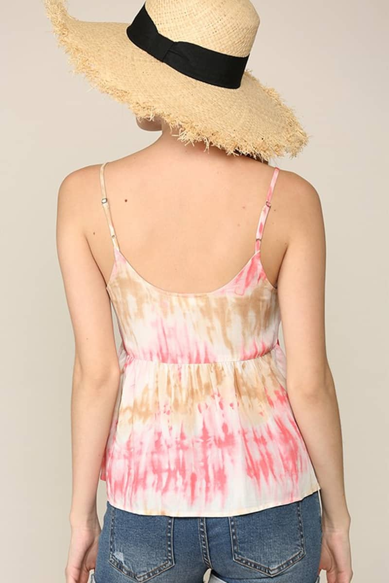 Tie Dye Camisole In Coral 68315