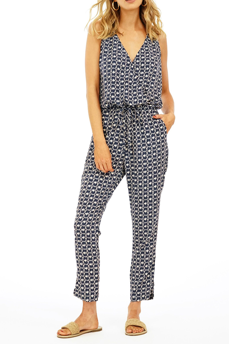 Veronica M Woven Jumpsuit In Lindley 63780