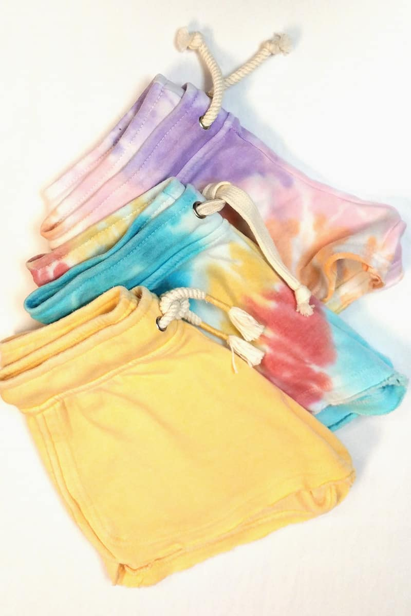 Vintage Havana Clothing Tie Dye French Terry Shorts 64303